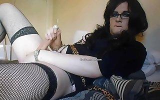 Sexy CD solo cock play